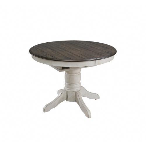 "Gallery - Vintage Estate Pedestal Dining Table W/15"" Butterfly Leaf"