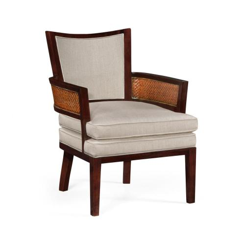 Occasional armchair, upholstered in MAZO