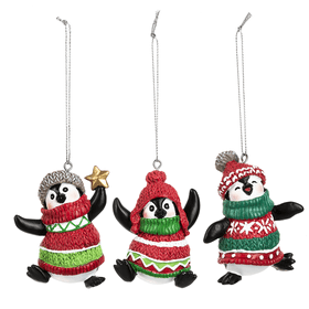 Dressed to Chill Penguins Ornaments (12 pc. ppk.)
