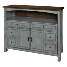 Bedford 2 Drawer / 2 Door Sage Grey Cabinet w/ Wood Top