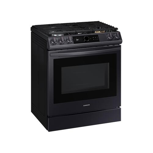 6.0 cu. ft Front Control Slide-in Gas Range with Smart Dial, Air Fry & Wi-Fi in Black Stainless Steel