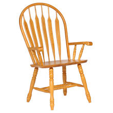 See Details - Comfort Dining Arm Chair - Light Oak