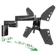 View Product - 3400FSlim 4 Movement - Full Motion, Flat/ Curved TV Wall Mount - Rotate, Fold, Swivel & Tilt TV Wall mount, barkan , tv mount