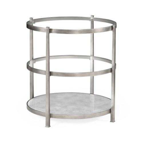 Silver Three Tier Table