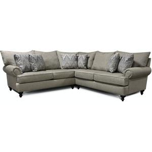 England Furniture4Y00-Sect Rosalie Sectional