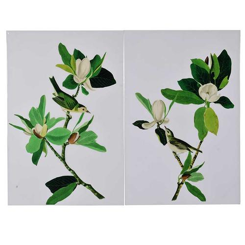 S/2 Flower Wall Art