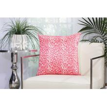 "Outdoor Pillows As524 Hot Pink 20"" X 20"" Throw Pillow"