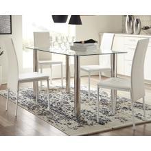 Sariden Table & 4 Chairs Chrome/White