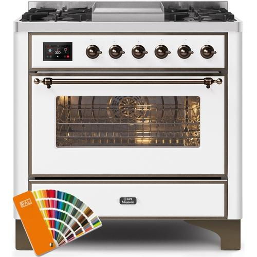 36 Inch Custom RAL Color Dual Fuel Liquid Propane Freestanding Range