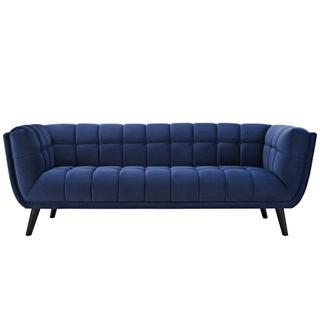 Bestow Performance Velvet Sofa in Navy