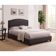 Abbotsford Platform Bed - King, Brown
