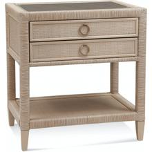 Sabal Bay Two Drawer Nightstand with Glass Top