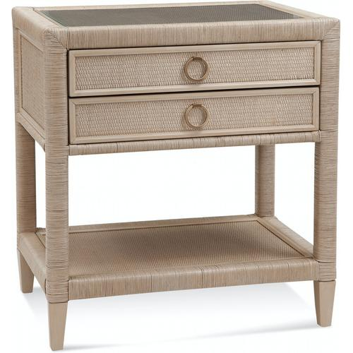 Braxton Culler Inc - Sabal Bay Two Drawer Nightstand with Glass Top