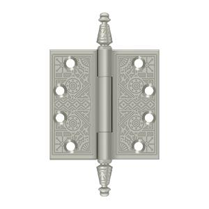 """Deltana - 4"""" x 4"""" Square Hinges - Brushed Nickel"""