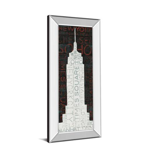 """Classy Art - """"Empire State Building"""" By Micheal Mullan Mirror Framed Print Wall Art"""