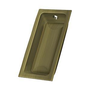 "Flush Pull, Large, 3-5/8"" x 1-3/4"" x 1/2"" - Antique Brass"