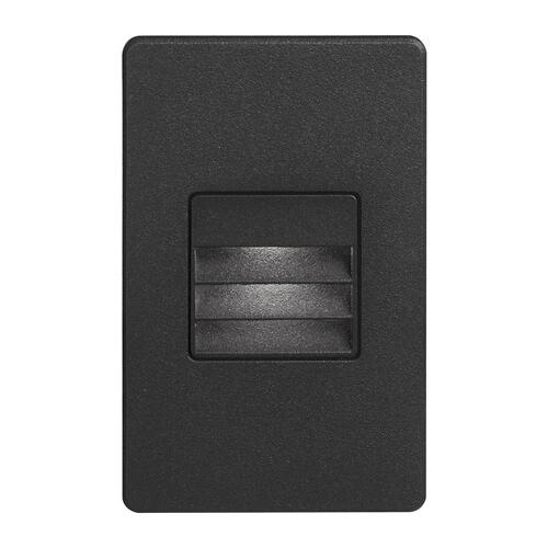 Black Rectangle In/outdoor 3w LED Wal