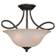 25033-OLB - 3 Light Convertible Semi Flush/Pendant