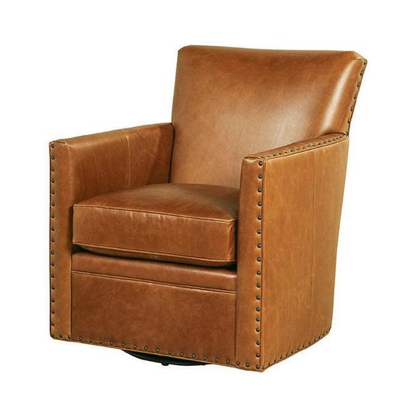 See Details - Logan Swivel Chair in Trends Coffee