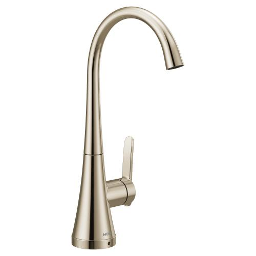 Moen Polished nickel one-handle high arc single mount beverage faucet