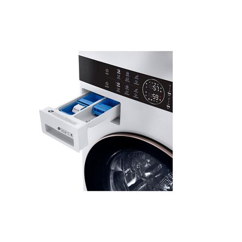 Single Unit Front Load LG WashTower™ with Center Control™ 4.5 cu. ft. Washer and 7.4 cu. ft. Gas Dryer