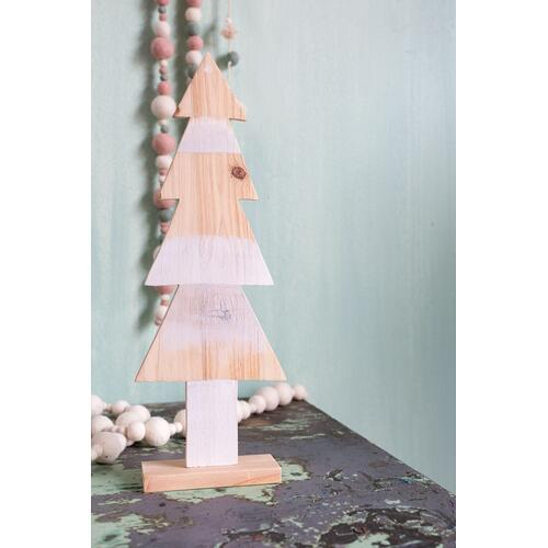 "Picket Tree (Size:5.75""x 2""x 16.25"", Color:White)"