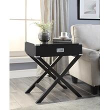 7082 BLACK X-Base End Table