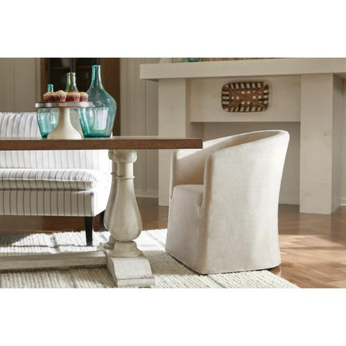 Slipcover Barrel Back Chair w/ Casters