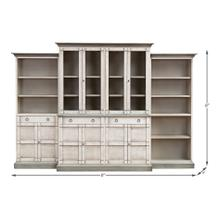 See Details - 4 Piece Full Wall Unit, White & Grey
