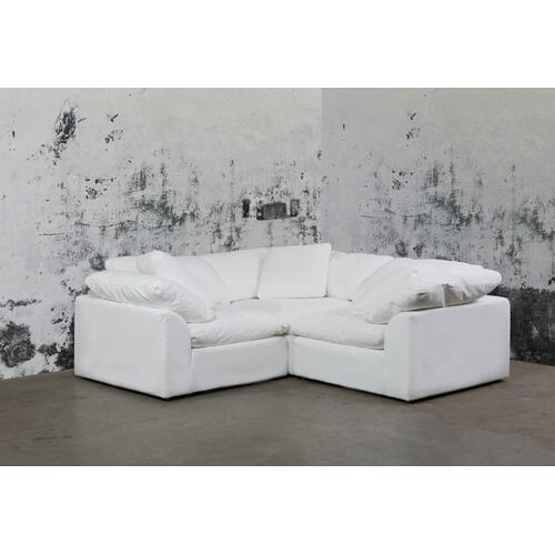 Cloud Puff Slipcovered Modular Sectional Sofa - 391081 (3 Piece)