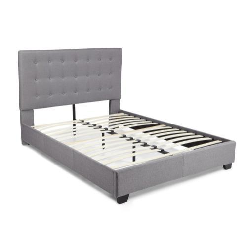 Stratford Platform Bed - King, Grey