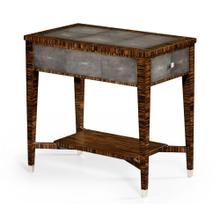Faux macassar ebony & anthracite shagreen side table