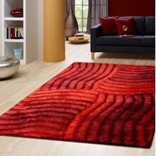 See Details - Soft Three Dimensional Polyester Viscose Hand Tufted 3D 311 Shag Area Rug by Rug Factory Plus - 2' x 3' / Red