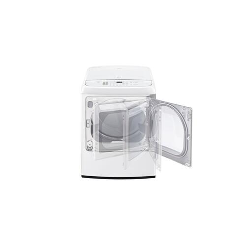 LG - 7.3 cu. ft. Large Smart wi-fi Enabled Front Control Gas Dryer with EasyLoad™ Door