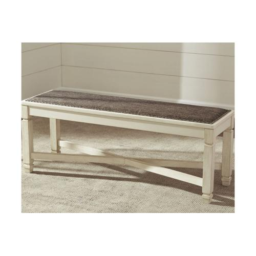 Bolanburg Large Uph Dining Room Bench Antique White
