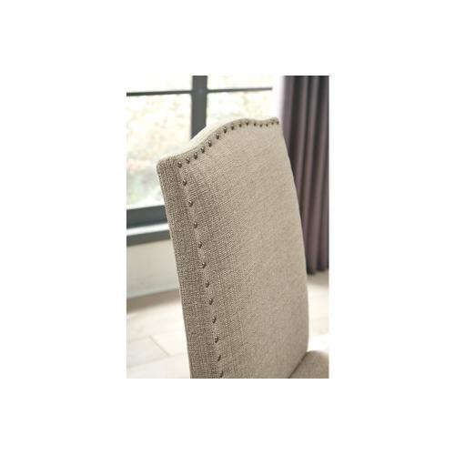 Lettner Upholstered Barstool Gray/Brown