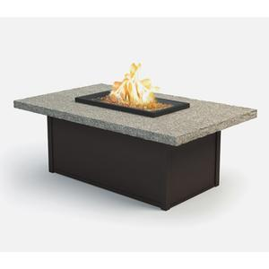 """32"""" x 52"""" Rectangular Coffee Fire Pit Ht: 19"""" Aurora Aluminum Base (Indicate Top & Frame Color)"""