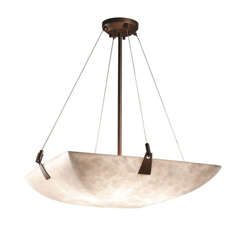 "24"" Pendant Bowl w/ Tapered Clips"