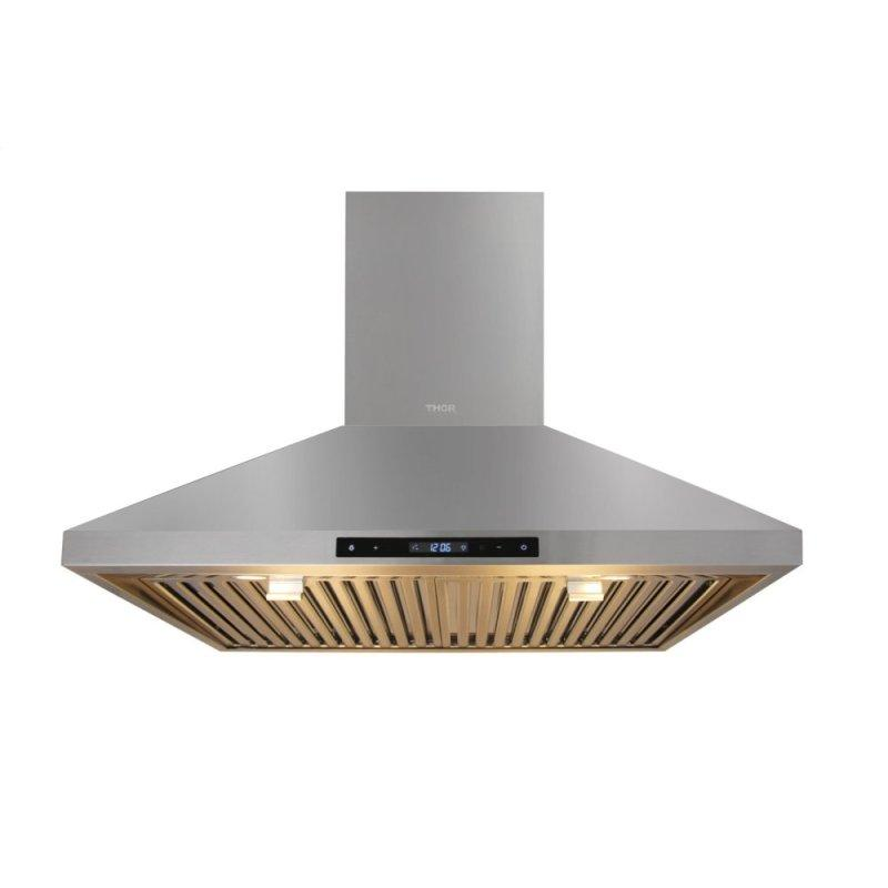 Hrh3007 Thor Kitchen 30 Inch Wall Mount Range Hood In Stainless Steel Don S Tv Appliance Don S Tv Appliance
