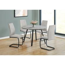 """See Details - DINING CHAIR - 2PCS / 39""""H / GREY FABRIC / BLACK METAL"""