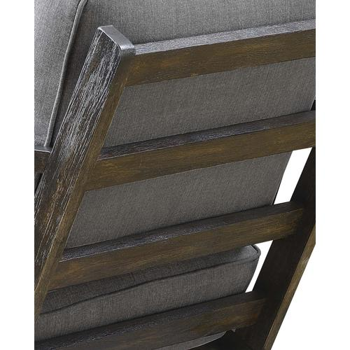 Metro Chair Slate - Espresso Wood Finish (UPS Packing)