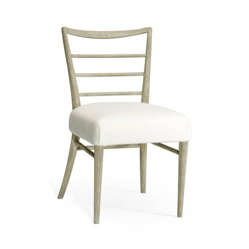 Pensacola Grey Oak Dining Side Chair, Upholstered in COM by Distributor