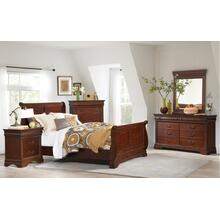 Chateau Sleigh Bedroom - Queen Bed, Dresser, Mirror, Chest, and Night Stand