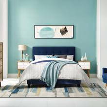 View Product - Amira Full Performance Velvet Bed in Midnight Blue