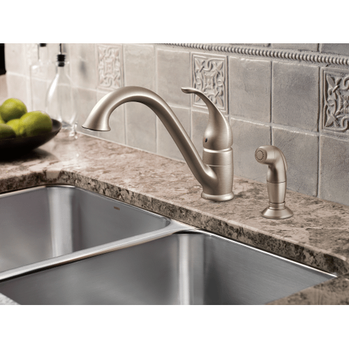 Camerist Spot resist stainless one-handle low arc kitchen faucet