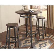Round Bar Table and 2 Stools