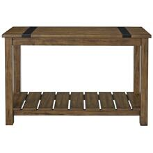 Nelson Console Table, Distressed Brown