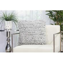 "Shag Dl658 Silver 20"" X 20"" Throw Pillow"