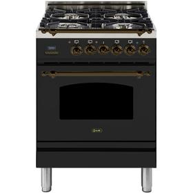 24 Inch Matte Graphite Dual Fuel Natural Gas Freestanding Range