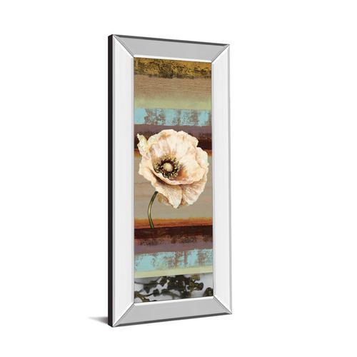 """Classy Art - """"Elemental Poppy Il"""" By Selina Werbelow Mirror Framed Print Wall Art"""